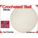 White Crochet Ball | 2 5/8 Inch (67mm)