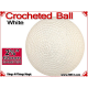 White Crochet Ball | 2 3/8 Inch (60mm)