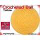 Yellow Crochet Ball | 2 5/8 Inch (67mm)
