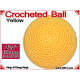 Yellow Crochet Ball | 2 3/8 Inch (60mm)