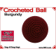Burgundy Crochet Ball | 1 3/8 Inch (35mm)